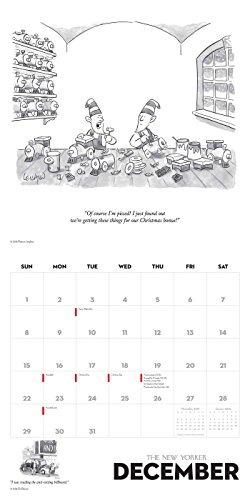 Calendario Dibujo 2019.Dibujos Animados Del Calendario De Pared New Yorker 2019