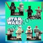 Kit 4/1 Legos Star Wars Chewbacca Darth Vader Maul Anakin +