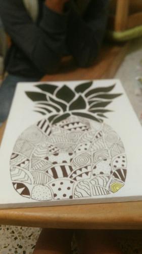 dibujos en lienzo