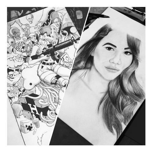 dibujos, ilustraciones y retratos