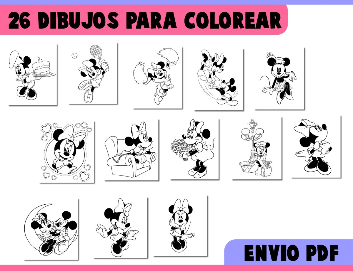 Minie Eenamorada Minnie Mouse Printable Coloring Pages For Kids