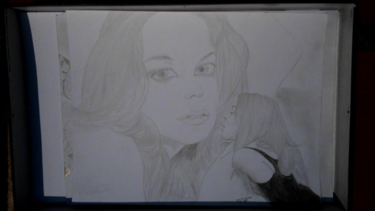 Dibujos Retratos A Lapiz Personalizado Realistas Paisaje Mon Bs 0