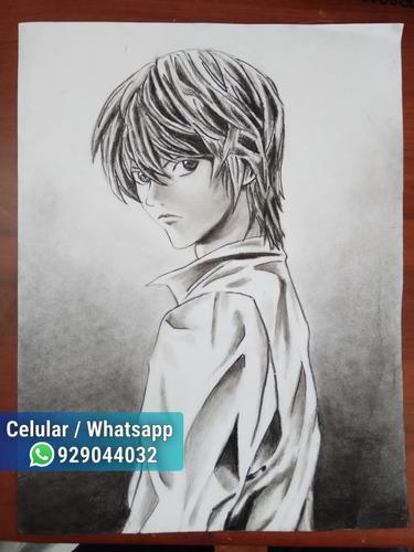 dibujos y retratos a grafito y carboncillo (con fijador)