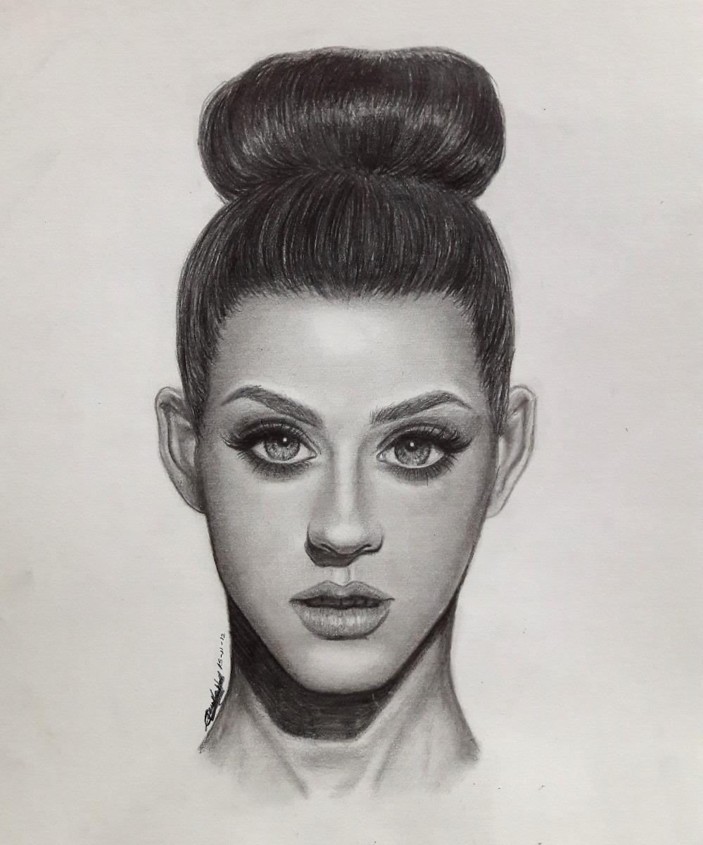 Dibujos Y Retratos A Lapiz Profesionales Katy Perry 1 800 00 En