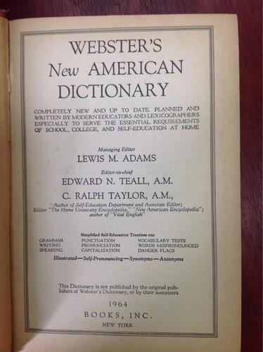 diccionario americano webster's. american dictionary.