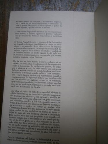diccionario basico ladino español pascual recuero 1977