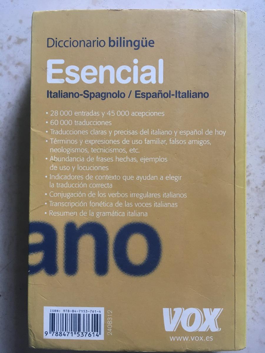 Diccionario Bilingue Esencial Italiano Spagnolo Español 40000