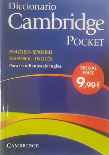 diccionario cambridge pocket ingles español spanish english
