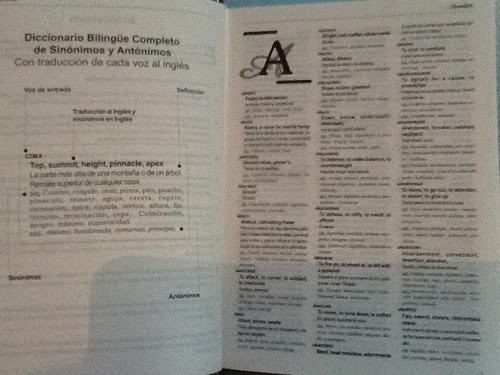 diccionario completo reymo de sinónimos y antónimos bilingüe