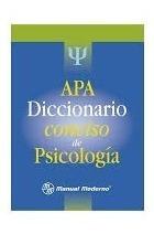 diccionario conciso de psicologia apa libro pdf