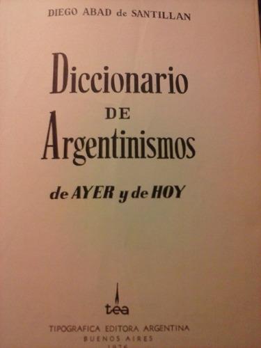 diccionario de argentinismos