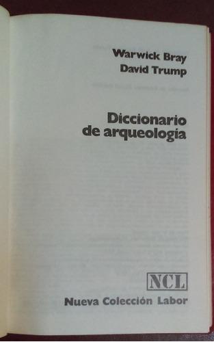 diccionario de arqueología warwick bray david trump