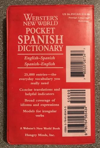 diccionario de bolsillo español ingles e ingles español