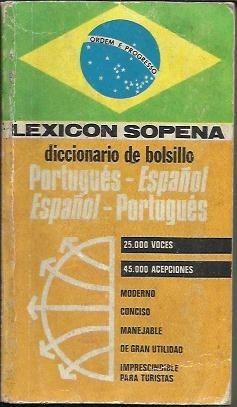 diccionario de bolsillo portugues - espanñol español - portu