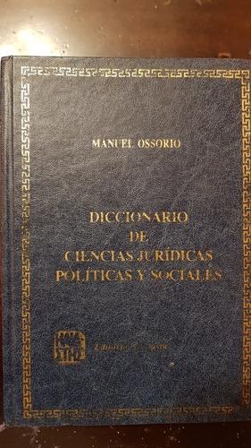 diccionario de ciencias jurídicas políticas y sociales