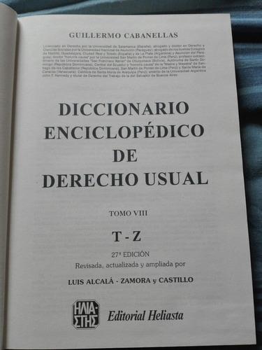 diccionario  de derecho usual cabanellas 5 tomos