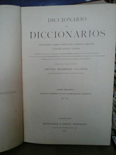 diccionario de diccionarios