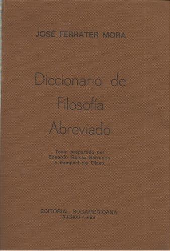 diccionario de filosofía abreviado / josé ferrater mora