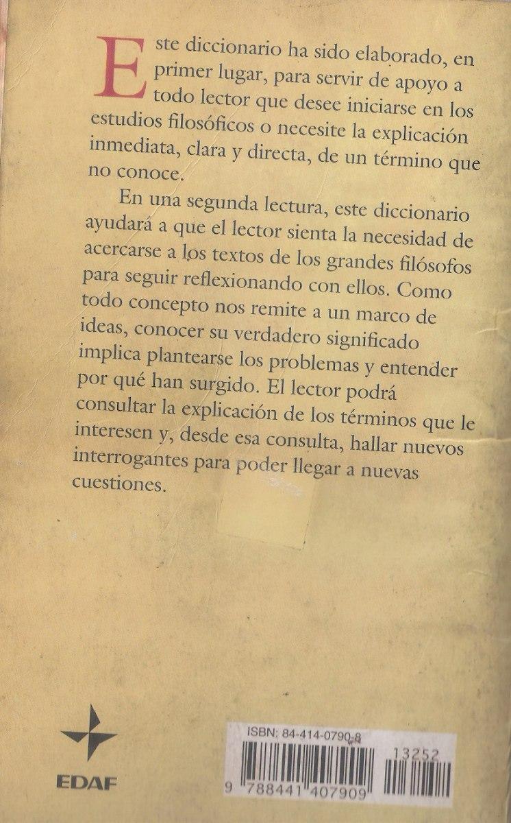 Diccionario De Filosofia / Juan Carlos Gonzales Garcia. - Bs ...