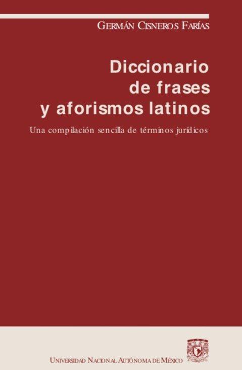 Diccionario De Frases Y Aforismos Latinos Cisneros Di Gi Tal