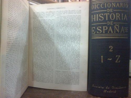 diccionario de historia de españa (2 tomos)
