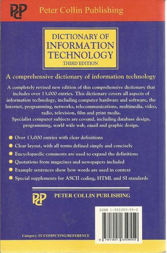 diccionario de información y tecnología. en inglés.