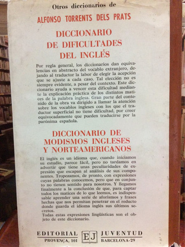 diccionario de ingles americano - alfonso torrents dels unid