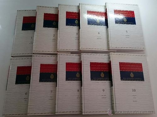 diccionario de la academia 10 tomos, nuevos.