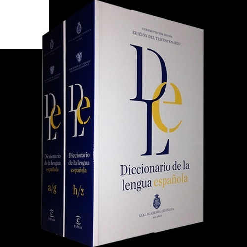 diccionario de la lengua española. 2 tomos