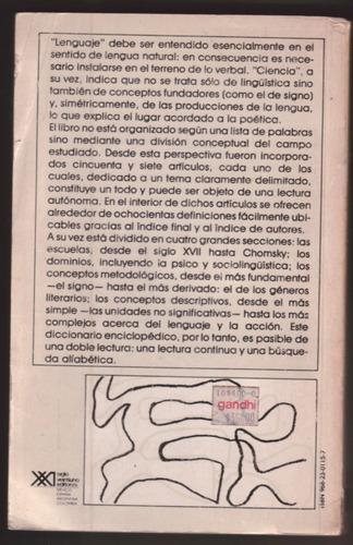 diccionario  de las ciencias del lenguaje - ducrot - todorov