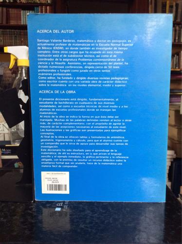 diccionario de matemáticas, santiago valiente barderas