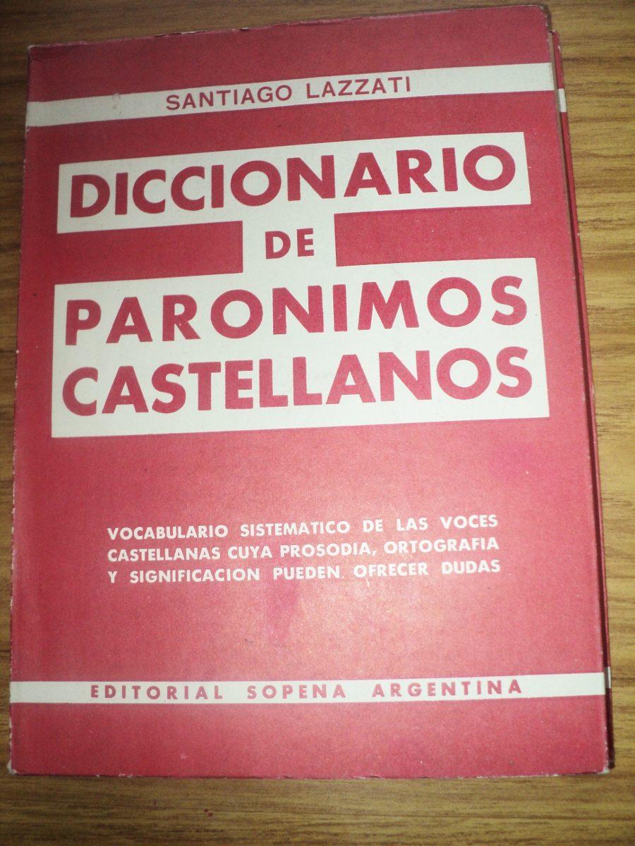 diccionario de paronimos