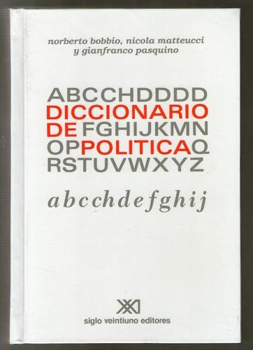 diccionario de política - 2 tomos, bobbio / pasquino, sxxi