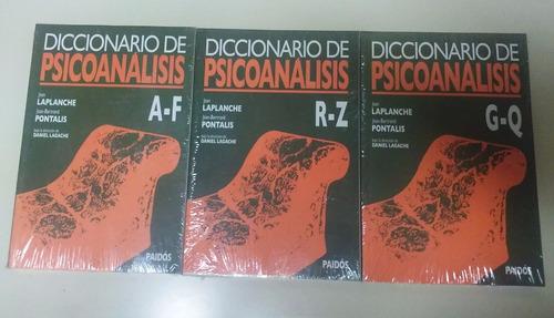 diccionario de psicoanalisis - laplanche - pontalis 3 tomos