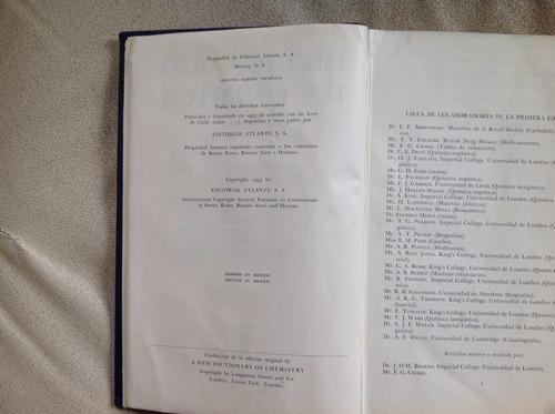 diccionario de química. stephen y mackenzie miall. atalante.