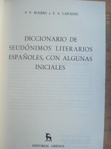 diccionario de seudonimos literarios españoles.