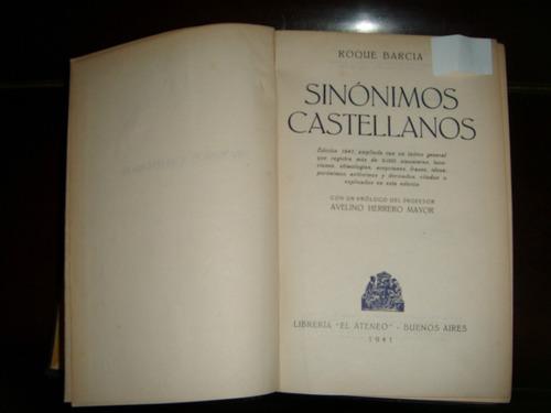 diccionario de sinonimos castellanos -   roque barcia