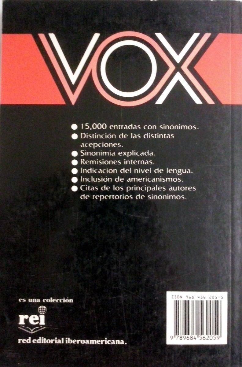 Diccionario De Sinónimos - Vox - $ 75.00 en Mercado Libre - photo#25