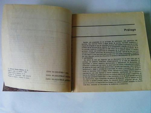 diccionario de sinonimos y antonimos editorial sopena