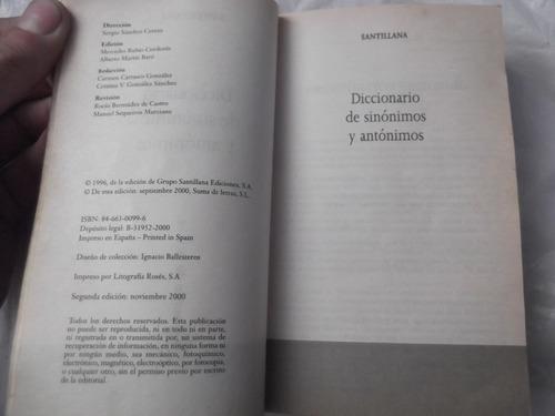 diccionario de sinonimos y antonimos santillana 20000 palabr