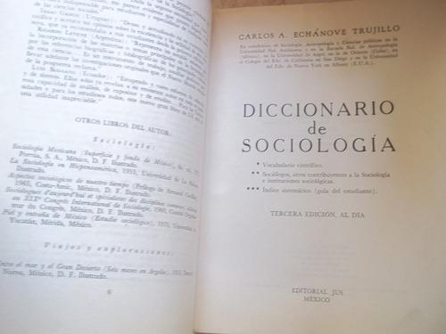 diccionario de sociologia, autor:carlos e, echanove, libro