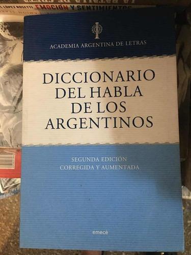 diccionario del habla de los argentinos academia de letras