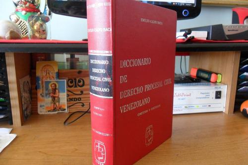 diccionario derecho procesal civil. emilio calvo baca. 1986.
