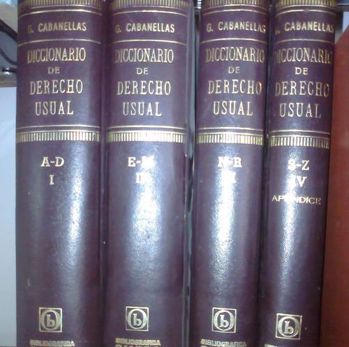diccionario derecho usual de cabanellas 4tomos