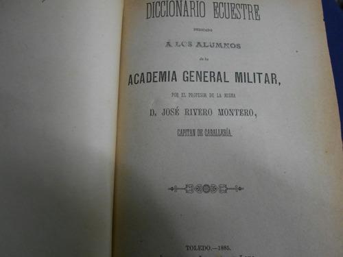 diccionario ecuestre - rivero montero