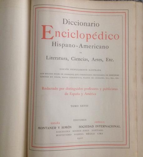 diccionario enciclopédia hispano americano edicion 1912
