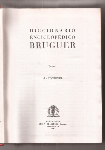 diccionario enciclopedico bruguer 4 tomos muy bueno