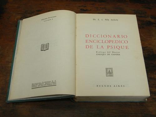 diccionario enciclopedico de la psique   bela szekely