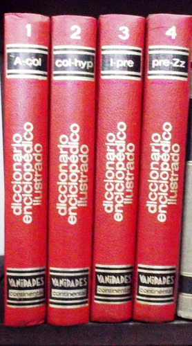 .diccionario enciclopédico ilustrado vanidades. 4 tomos