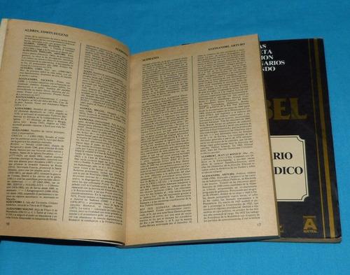 diccionario enciclopédico nobel 2 tomos 1986 biografías etc